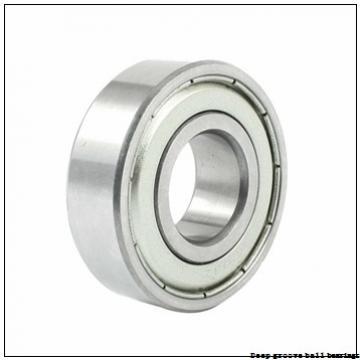 4 mm x 16 mm x 5 mm  skf W 634 R-2Z Deep groove ball bearings