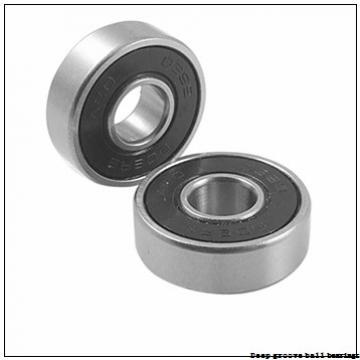 6 mm x 19 mm x 6 mm  skf W 626 R-2Z Deep groove ball bearings