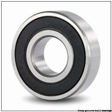 5 mm x 11 mm x 4 mm  skf W 628/5-2RS1 Deep groove ball bearings