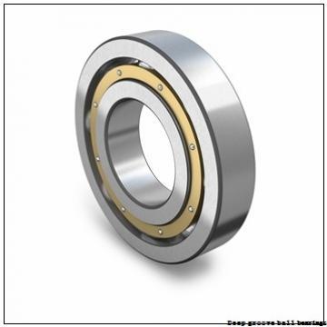 4,762 mm x 9,525 mm x 10,719 mm  skf D/W R166 R Deep groove ball bearings