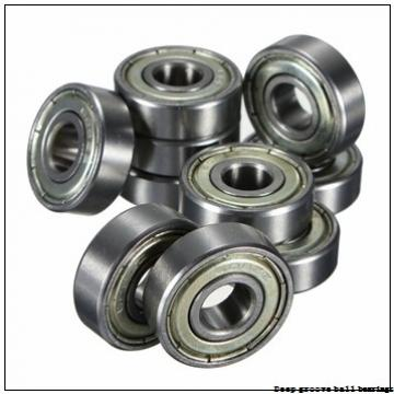 2,38 mm x 4,762 mm x 2,38 mm  skf D/W R133-2ZS Deep groove ball bearings
