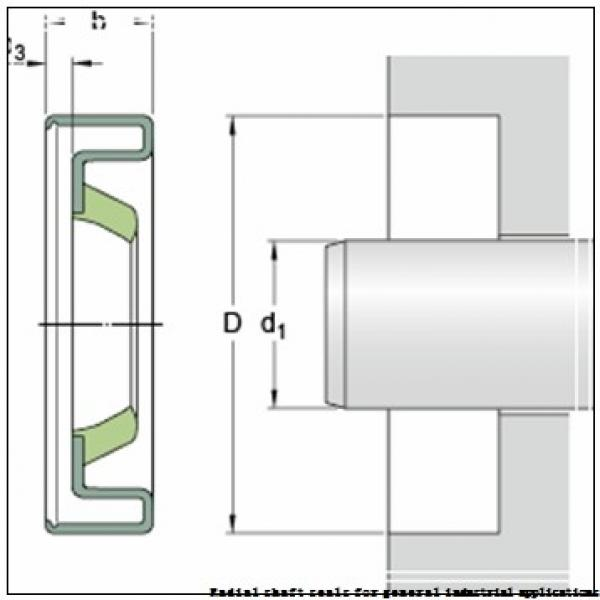 skf 43X60X8 CRW1 R Radial shaft seals for general industrial applications #2 image