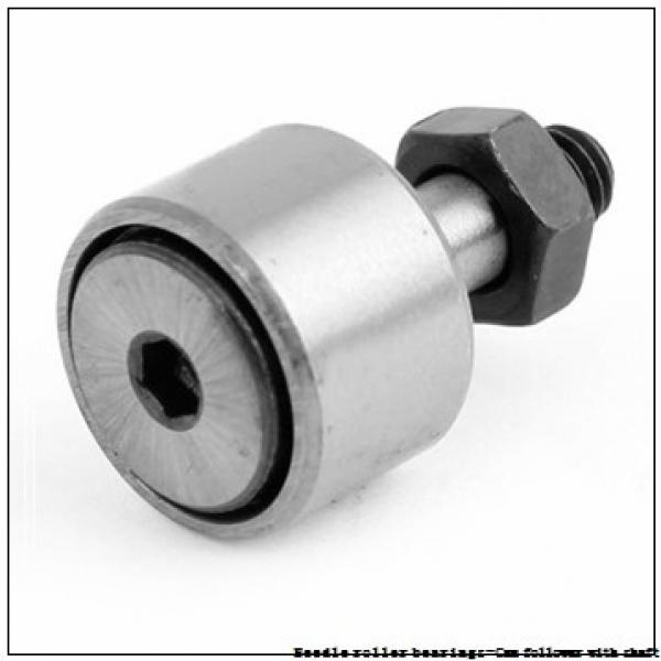NTN NUKR100XH/3AS Needle roller bearings-Cam follower with shaft #2 image