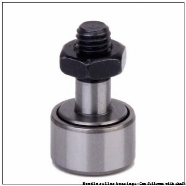 NTN NUKR90H/3AS Needle roller bearings-Cam follower with shaft #2 image