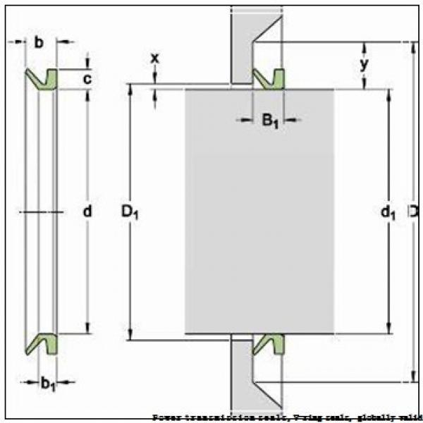 skf 500 VA R Power transmission seals,V-ring seals, globally valid #1 image